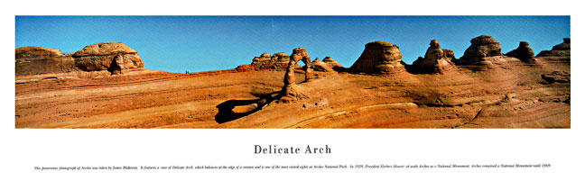 Delicate Arch Panoramic Nature Photograph