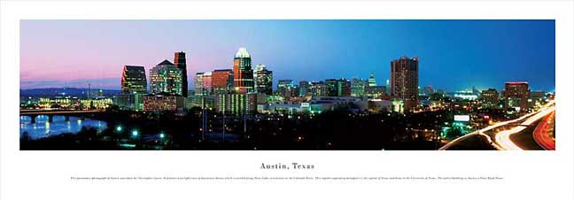 Austin Texas Skyline Panoramic Photograph #2