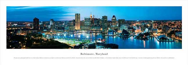 Baltimore Maryland Skyline Panoramic Photograph #2