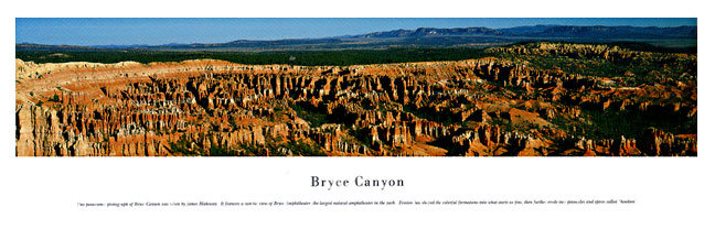 Bryce Canyon Panoramic Nature Photograph