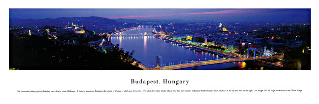 Budapest Hungary Skyline Panoramic Photograph
