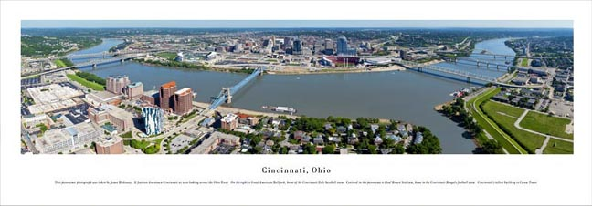 Cincinnati Ohio Skyline Panoramic Photograph 4