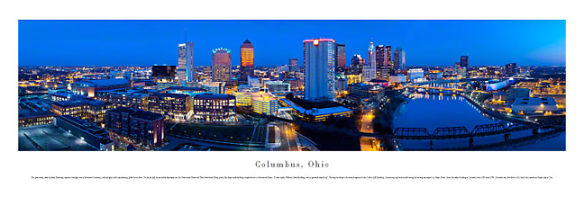 Columbus Ohio Skyline Panoramic Photograph 2