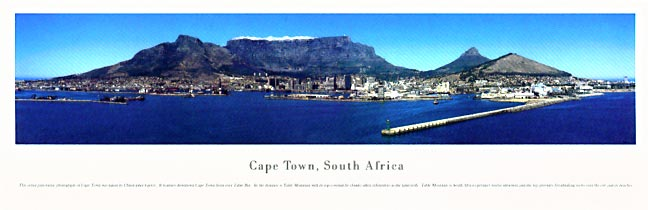 Cape Town South Africa Skyline Panoramic Photograph