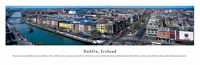 Dublin Ireland Skyline Panoramic Photograph 1