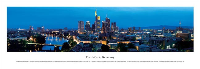 Frankfurt Germany Skyline Panoramic Photograph 2