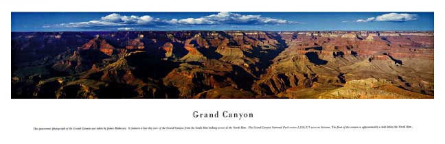 Grand Canyon Panoramic Nature Photograph