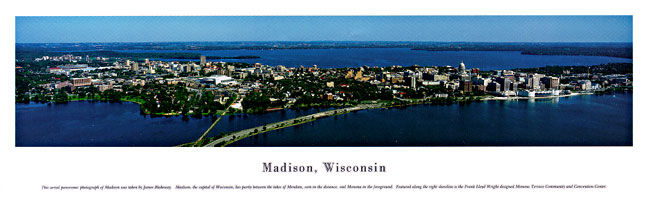 Madison Wisconsin Skyline Panoramic Photograph 1