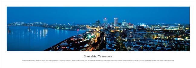 Memphis Tennessee Skyline Panoramic Photograph 2