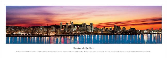 Montreal Quebec Skyline Panoramic Photograph 2