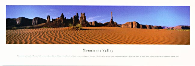 Monument Valley Panoramic Nature Photograph