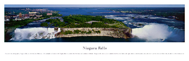 Niagra Falls Panoramic Nature Photograph