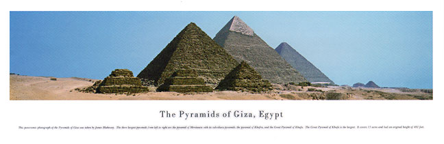 The Pyramids of Giza Egypt Panoramic Photograph
