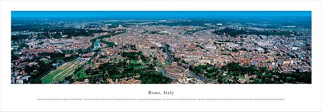 Rome Italy Skyline Panoramic Photograph 3