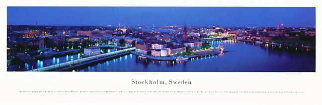 Stockholm Sweden Skyline Panoramic Photograph 1