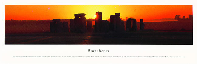 Stonehenge Panoramic Photograph