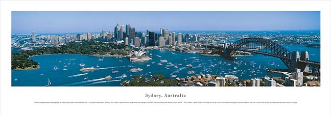 Sydney Australia Skyline Panoramic Photograph 1