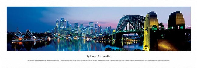 Sydney Australia Skyline Panoramic Photograph 2