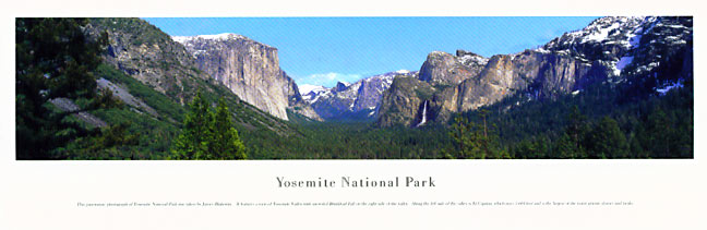 Yosemite National Park Panoramic Photograph