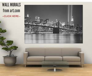 Wall Sized Murals and Oversized Canvas Prints City Skyline Art